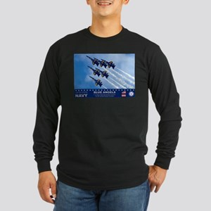Blue Angels F-18 Hornet Long Sleeve Dark T-Shirt