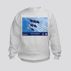 Blue Angels F-18 Hornet Kids Sweatshirt