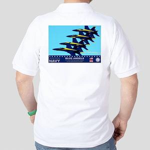 Blue Angels F-18 Hornet Golf Shirt