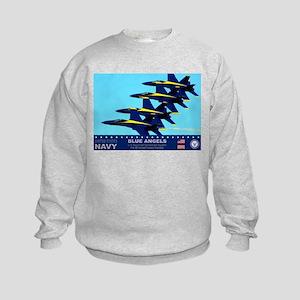 Blue Angels F-18 Hornet Kids Sweatshirt
