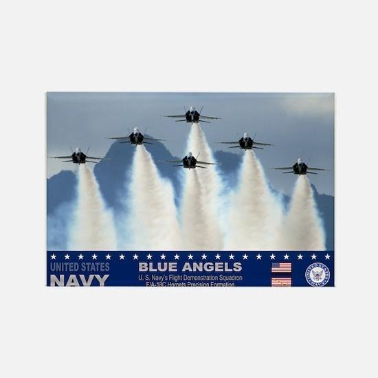 Blue Angels F-18 Hornet Rectangle Magnet