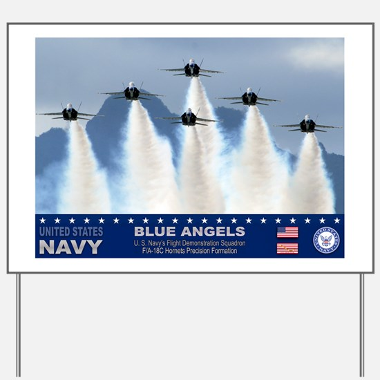 Blue Angels F-18 Hornet Yard Sign