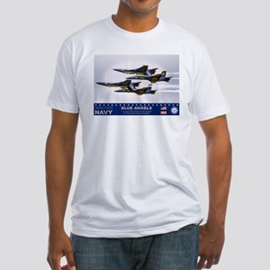 Blue Angels F-18 Hornet Fitted T-Shirt
