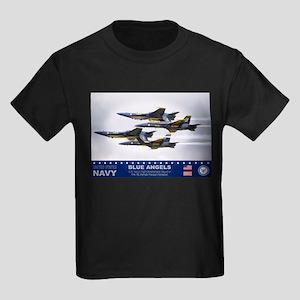 Blue Angels F-18 Hornet Kids Dark T-Shirt