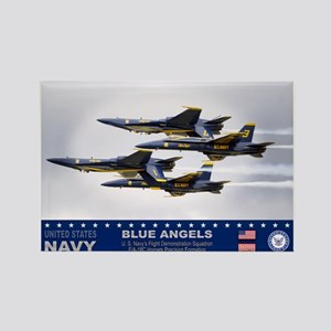 Blue Angels F-18 Hornet Rectangle Magnet (10 pack)