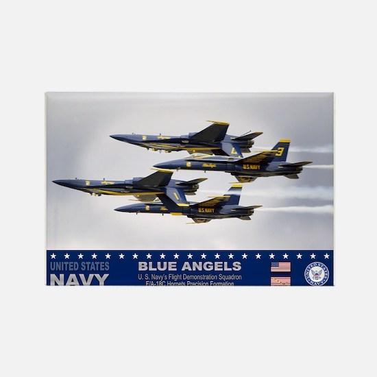 Blue Angels F-18 Hornet Rectangle Magnet (10 pack)