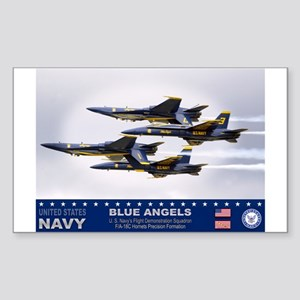 Blue Angels F-18 Hornet Rectangle Sticker