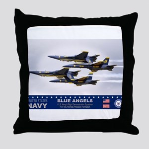 Blue Angels F-18 Hornet Throw Pillow