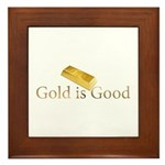 Gold is Good Framed Tile