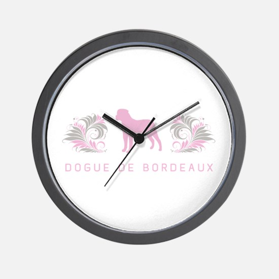 """""""Elegant"""" Dogue de Bordeaux Wall Clock"""