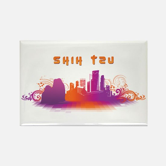 """City"" Shih Tzu Rectangle Magnet"