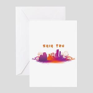 """City"" Shih Tzu Greeting Card"