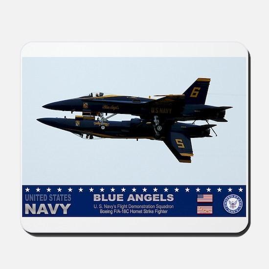 Blue Angels F-18 Hornet Mousepad