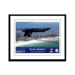 Blue Angels F-18 Hornet Framed Panel Print