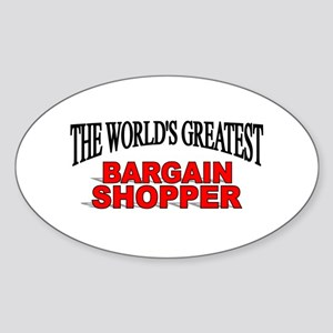 """The World's Greatest Bargain Shopper"" Sticker (Ov"