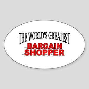 """The World's Greatest Bargain Shopper"" Sticker (Ov"