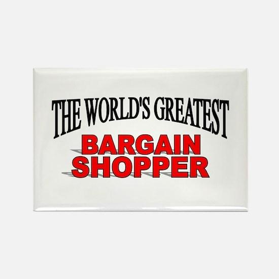 """""""The World's Greatest Bargain Shopper"""" Rectangle M"""