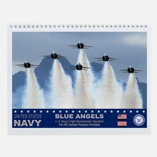 Blue Angels F-18 Hornets Wall Calendar