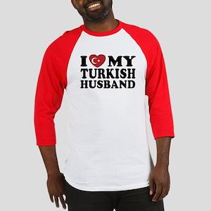 I Love My Turkish Husband Baseball Jersey
