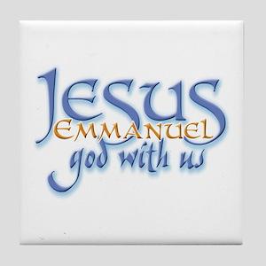 Jesus -Emmanuel God with us Tile Coaster