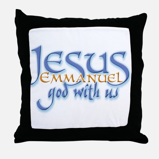 Jesus -Emmanuel God with us Throw Pillow