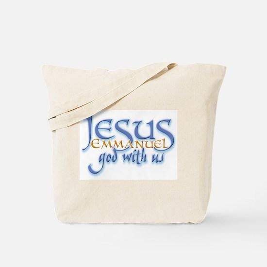Jesus -Emmanuel God with us Tote Bag