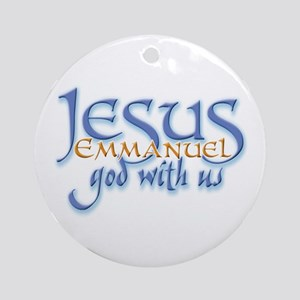 Jesus -Emmanuel God with us Keepsake (Round)