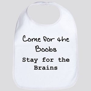 """""""Boobs & Brains"""" Bib"""