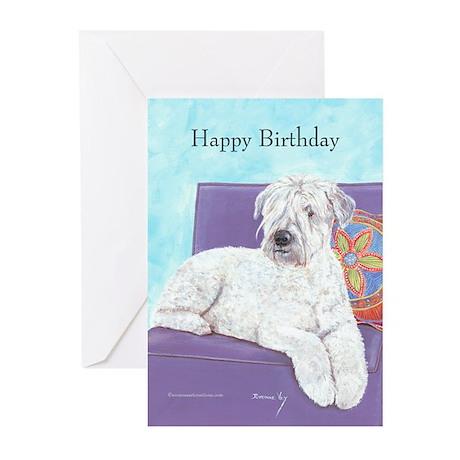 Wheaton Terrier Birthday Greeting Cards (Pk of 10)