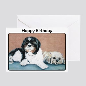 Shih Tzu Birthday Greeting Cards (Pk of 20)