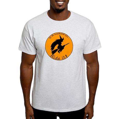Halloween Witch Broom Light T-Shirt
