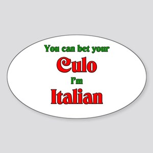 Culo Oval Sticker