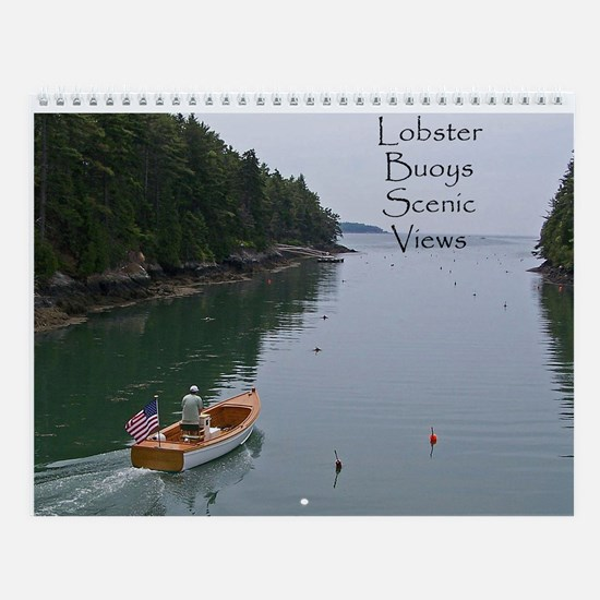 Lobster Buoys Scenic Views Wall Calendar