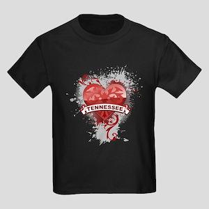 Heart Tennessee Kids Dark T-Shirt