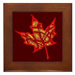 Fire Leaf Framed Tile