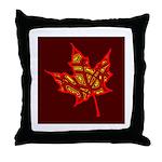 Fire Leaf Throw Pillow