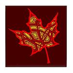 Fire Leaf Tile Coaster