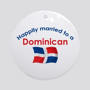 Happily Married Dominican 2 Ornament (Round)