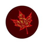 """Fire Leaf 3.5"""" Button (100 pack)"""