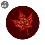 """Fire Leaf 3.5"""" Button (10 pack)"""