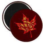 """Fire Leaf 2.25"""" Magnet (100 pack)"""