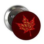"""Fire Leaf 2.25"""" Button (10 pack)"""