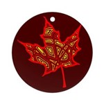 Fire Leaf Ornament (Round)