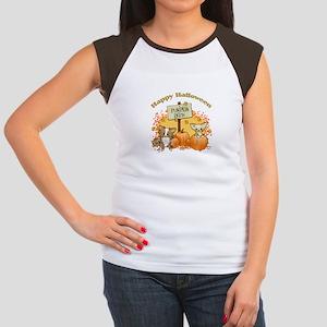 Chihuahua Halloween Women's Cap Sleeve T-Shirt