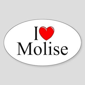 """I Love (Heart) Molise"" Oval Sticker"
