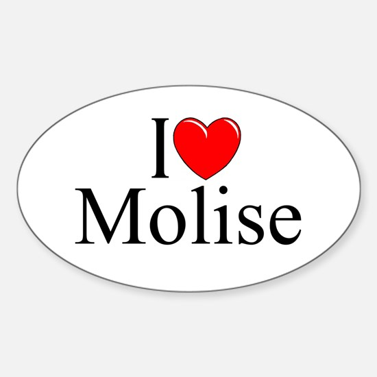 """I Love (Heart) Molise"" Oval Decal"