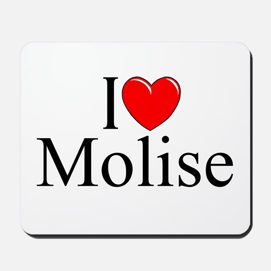 """I Love (Heart) Molise"" Mousepad"