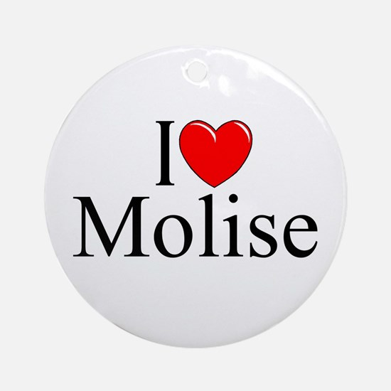 """I Love (Heart) Molise"" Ornament (Round)"