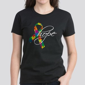 Autism Ribbon Hope Women's Dark T-Shirt