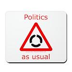 Politics as Usual Mousepad